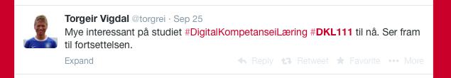 Digital kompetanse i læring på Høgskulen i Volda bruker Twitter