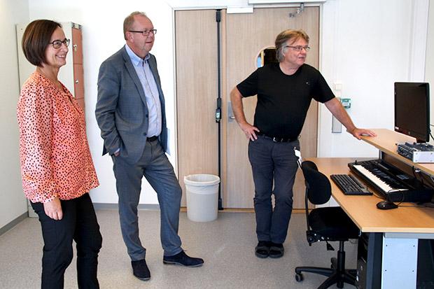 Avdeling for kulturfag, pressebilete, Aud Folkestad, Pål Farstad og Leif Barmen.