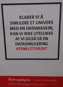 Plakat med reklame for Forskingsdagane 2014.