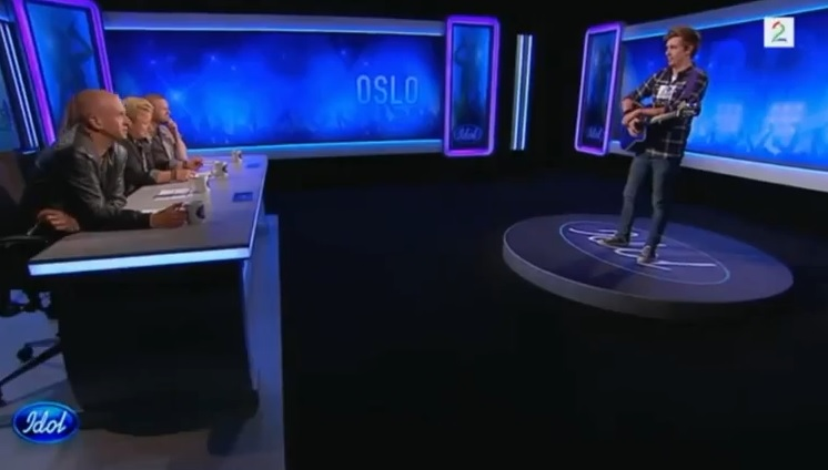 Skjermpdump frå Idol-auditionen til Jørn Trollebø Kvalheim på tv2.no.