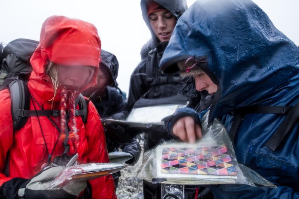 Å orienterie i dårlig vær er både viktig og krevjande, friluftsliv, Høgskulen i Volda, fotograf Sondre