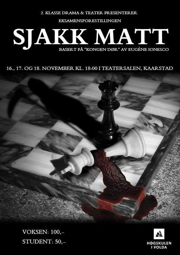 Teaterforestilling Sjakk Matt Drama og teater Høgskulen i Volda